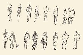 sketch of different people illustrations creative market