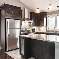 cuisine armoire brune cuisines beauregard cuisine réalisation 357 armoires de cuisine