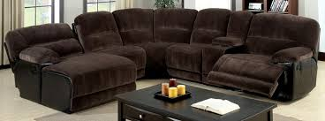 buy furniture of america cm6822 glasgow sectional with 2 recliners
