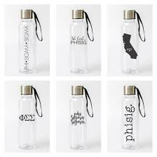phi sigma sigma water bottle a list greek designs