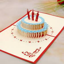 novelty design fashion 3d birthday cake shaped happy birthday