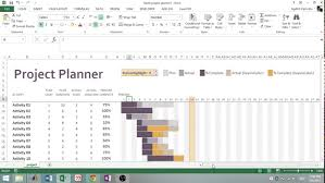 excel template planner excel 2013 using gantt project planner template youtube excel 2013 using gantt project planner template