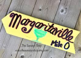 margaritaville arrow sign jimmy buffett sign tropical arrow