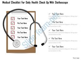 1114 medical checklist for daily health check up with stethoscope