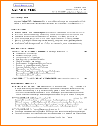 Human Resources Resume Objective Examples by Medical Assistant Resume Objective Examples Free Resume Example