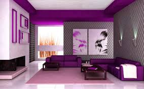 beautiful fresh purple and green interior color scheme living room