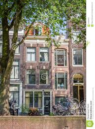 Narrow Houses A Typical Very Narrow House In Old Amsterdam Editorial Photo
