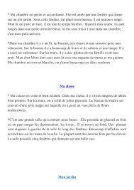 description d une chambre en anglais production écrite 6eme