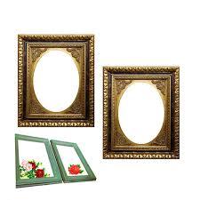 imitation brass frame unique design decorative frames oval