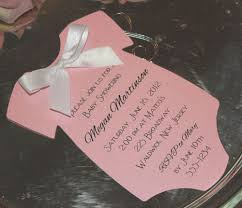 pink baby shower invitation onesie for a printed on