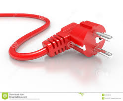 red electric plug royalty free stock image image 19126116