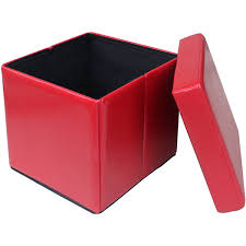 incredible collapsible storage ottoman red folding cube storage
