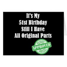 51st birthday greeting cards zazzle