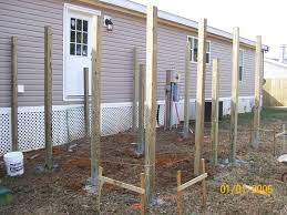 4x4 post installed for deck dan the handyman