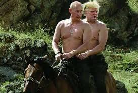 Meme Putin - vladmir putin and donald trump riding a horse together eurokeks