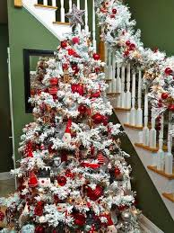 How To Decorate A Christmas Tree 150 Best Christmas Flocked Trees Images On Pinterest Xmas