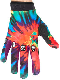 motocross gloves fist handwear red tie dye mx gloves fist handwear