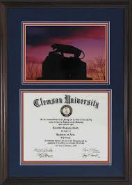 clemson diploma frame clemson diploma frame tiger on the rock 35 tigers and rock