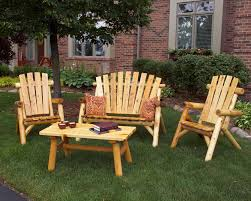 Rustic Outdoor Furniture Clearance by Wooden Patio Furniture Sets
