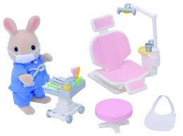 sylvanian families country dentist set jac in a box