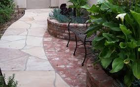 Patio Half Wall Inspiring Flat Rock Patio Stones For Backyard Walkways Paths With
