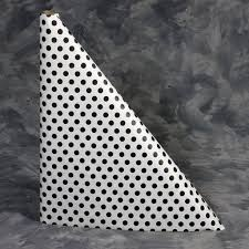 black polka dots print paper table cover roll 40