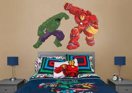 hulk v hulkbuster cartoon avengers assemble wall decal shop hulk v hulkbuster cartoon avengers assemble fathead wall decal