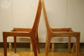 Refinish Dining Chairs Trash To Treasure Modern Dining Chair Refurbish The