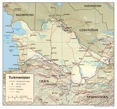 Aral Sea Map Maps Of Turkmenistan Detailed Map Of Turkmenistan In English