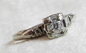 antique engagement ring art deco orange blossom engagement ring