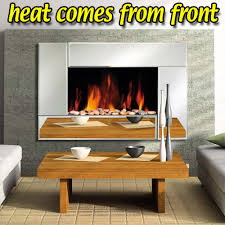 wall mounted glass fireplace electric fire widescreen home living