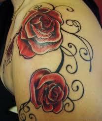 78 contemporary rose shoulder tattoos