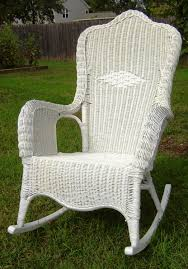 Outdoor Patio Rocking Chairs How To Fix A Copy Of A Wicker Rocking Chair