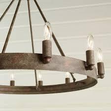 urban loft industrial circular chandelier shades of light
