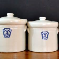 stoneware kitchen canisters vintage pfaltzgraff canisters numbered from thought cake living