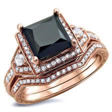 Rose Gold Wedding Ring Sets by Jewels Evolees Evolees Com Gorgeous Rose Gold Plated Sterling