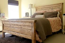 bedroom nice reclaimed wood headboard to ideas also queen images