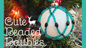 diy beaded bauble christmas tree ornament collab with