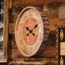 round wood bark wall clock cabin pinterest wood bark wall