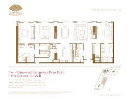 Turnberry Place Floor Plans by Two Bedroom Plus Den Penthouse Floor Plans The Mandarin Oriental