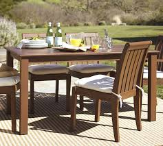 Pottery Barn Patio Table Chatham Rectangular Fixed Dining Table Pottery Barn