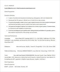Executive Summary Sample For Resume by Ideas Collection Sample Resume Programmer On Download Gallery