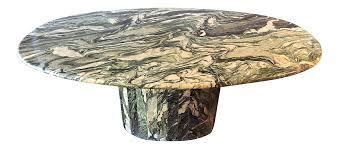 Oval Marble Dining Table Maurice Villency Oval Marble Dining Table Chairish
