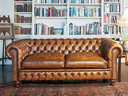 Tufted Leather Sofas Brilliant Tufted Brown Leather Sofa Chesterfield Antique Brown