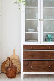 ikea hack glass door cabinet love this mid century look mid