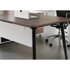Executive Office Desk With Return Evolve Executive Office Desk With Right Return Walnut Interior