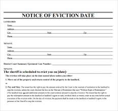 free notice forms sample eviction notice 7 free documents in