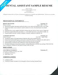 resume exles for dental assistants dental assistant resume exles luxsos me