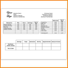 Excel Paystub Template 7 Pay Stub Template Free Receipt Templates
