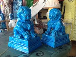 blue foo dogs thrift fabulous